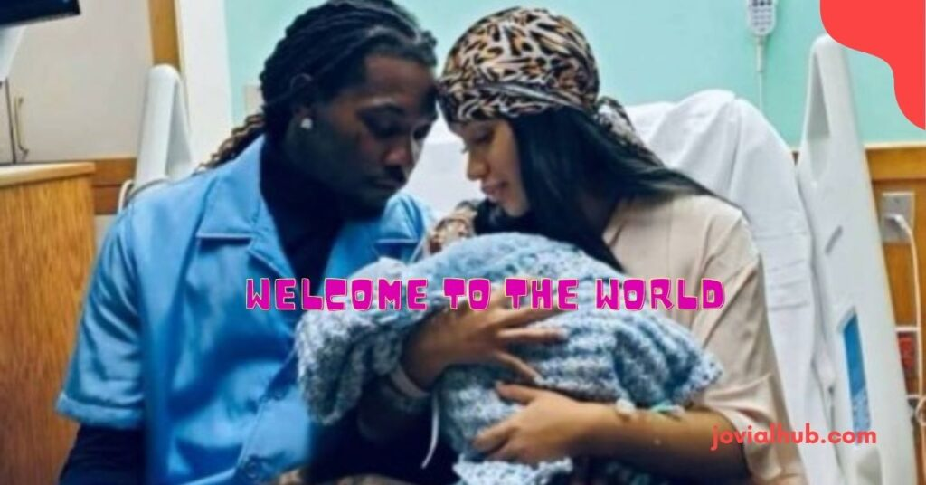 Cardi B shares a picture as she announces the birth of her